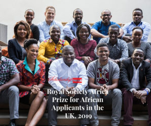 Royal Society Africa Prize for African Applicants in the UK, 2019