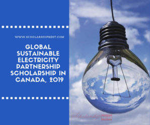 Global Sustainable Electricity Partnership Scholarship in Canada, 2019