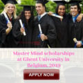 Master Mind scholarships at Ghent University in Belgium, 2019