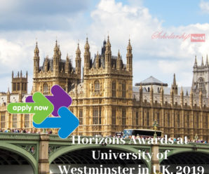 Horizons Awards at University of Westminster in UK, 2019