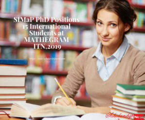 SIMaP PhD Positions 15 International Students at MATHEGRAM ITN,2019