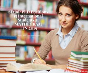 SIMaP PhD Positions 15 International Students at MATHEGRAM ITN,2019