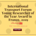 International Transport Forum Young Researcher of the Year Award in France, 2019