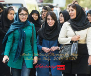Master Scholarship Program for Iran Students in Italy, 2019-2020