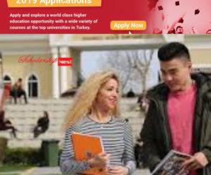 Türkiye Scholarships for International Students in Turkey, 2019
