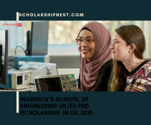 Warwick's School of Engineering UK/EU PhD Scholarship  in UK, 2019