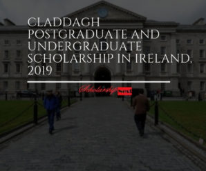 Claddagh Postgraduate and Undergraduate Scholarship in Ireland, 2019