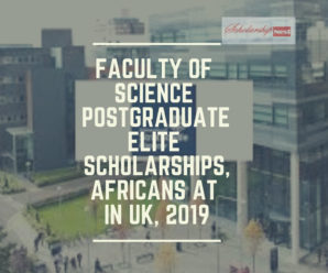 Faculty of Science Postgraduate Elite Scholarships,Africans at in UK, 2019