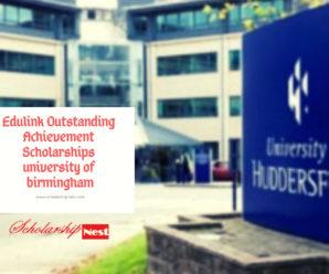 Edulink Outstanding Achievement Scholarships at University of Birmingham in UK, 2019