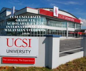 UCSI University Graduate Scholarships for International and Malaysian Students, 2019