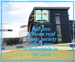 Full Fees African Real Estate Society (AfRES) MSc Scholarship at Henley Business School in UK, 2019