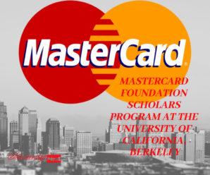 MasterCard Foundation Scholars Program at the University of California