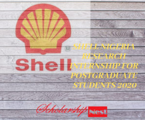 SHELL NIGERIA Research Internship For Postgraduate Students 2020