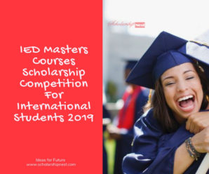 IED Masters Courses Scholarship Competition For International Students 2019