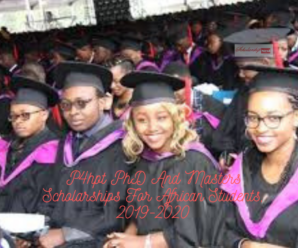P4hpt PhD And Masters Scholarships For African Students, 2019-2020