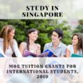 MOE Tuition Grants for International Students, 2019