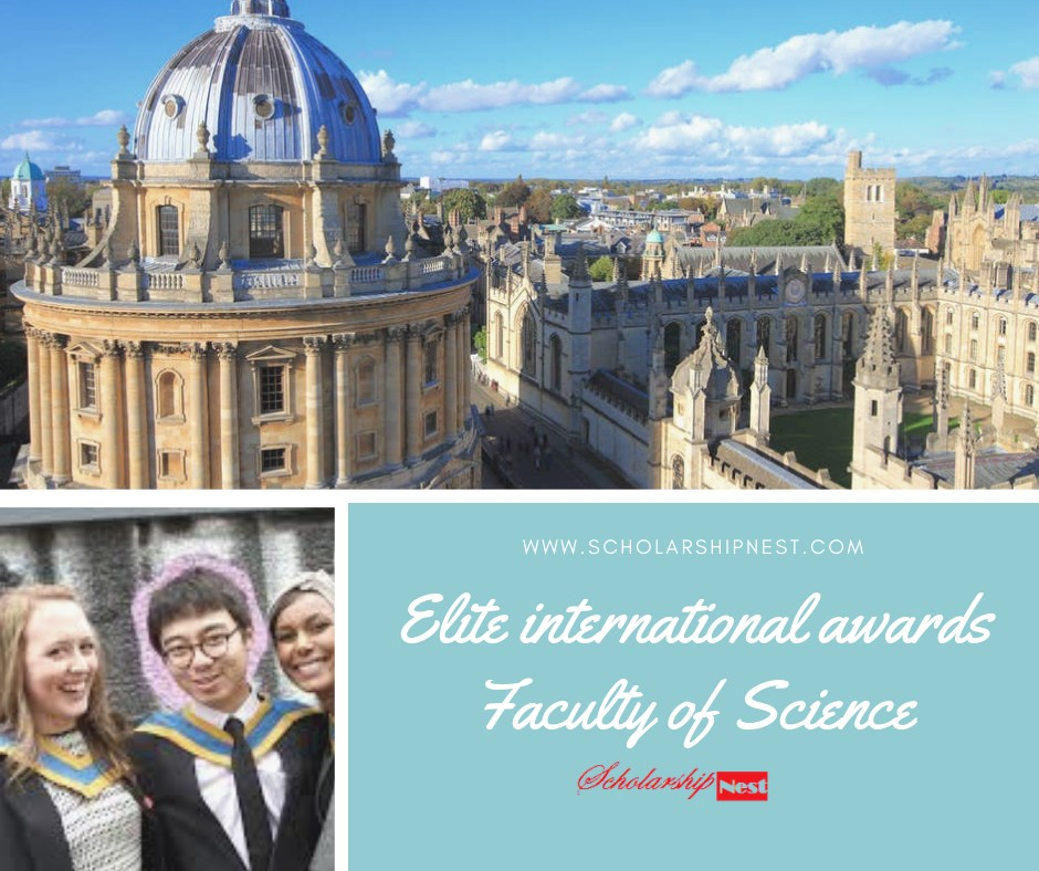 Elite international awards Faculty of Science Undergraduate in UK, 2019