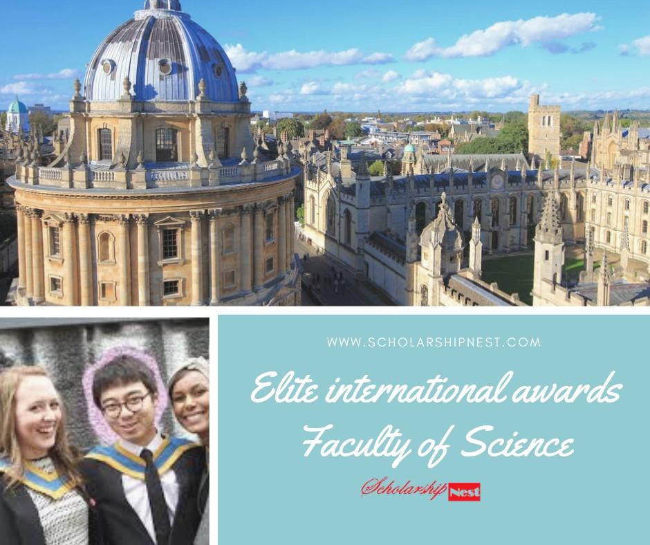 Elite international awards Faculty of Science Undergraduate in UK, 2019