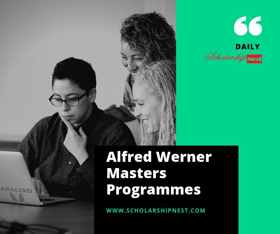 SCS Foundation Alfred Werner Masters Programmes in Switzerland, 2020-2022