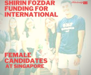 Shirin Fozdar funding for International Female Candidates at Singapore