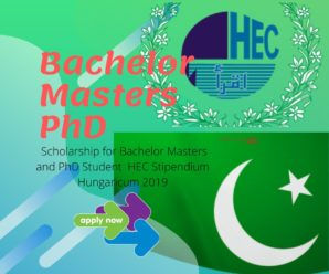 Scholarship for Bachelor Masters and PhD ,HEC Stipendium Hungaricum