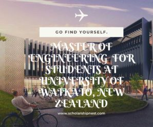Master of Engineering  for Students at University of Waikato, New Zealand