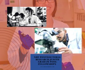 NHF Postdoctoral Research,Judith Graham Pool Fellowships