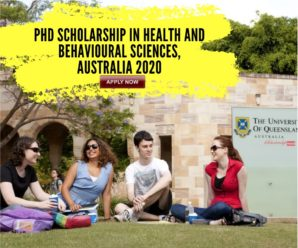 PhD Scholarship in Health and Behavioural Sciences, Australia 2020