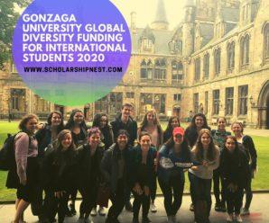 Gonzaga University Global Diversity funding for International Students 2020