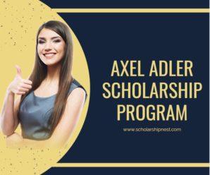 Axel Adler Scholarship Program funding ,at University of Gothenburg 2020