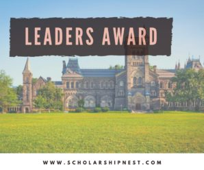 Leaders Award For International Student at University Canada West, 2020