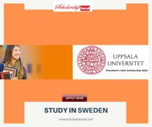 President's Club funding Uppsala University International Students,Sweden