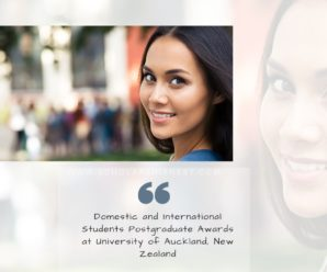 Domestic and International Students Postgraduate Awards at University of Auckland, New Zealand