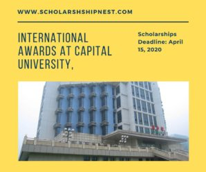 International Awards at Capital University, USA 2020