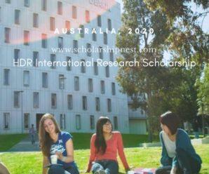 HDR International Research Scholarship at Deakin University in Australia