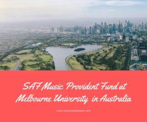 SAF Music Provident Fund at Melbourne University  in Australia