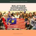 Malaysian Government Scholarships for Postgraduate Studies 2020