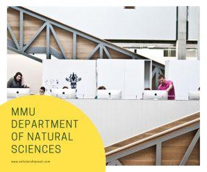 MMU Department of Natural Sciences Dalton international awards,UK