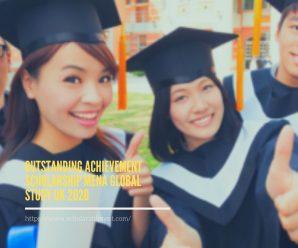 Outstanding Achievement Scholarship MENA Global Study UK 2020