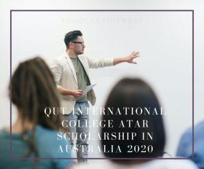 QUT International College ATAR Scholarship in Australia 2020