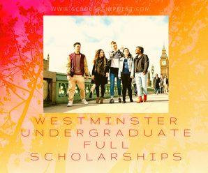 Westminster Undergraduate Full Scholarships 2020