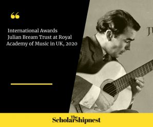 International Awards Julian Bream Trust at Royal Academy of Music in UK, 2020