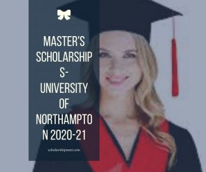 Master's Scholarships-University Of Northampton 2020-21