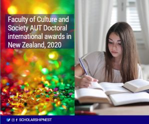 Faculty of Culture and Society AUT Doctoral international awards in New Zealand, 2020