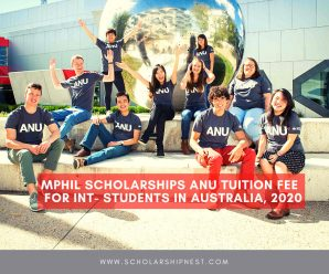 MPhil Scholarships ANU Tuition Fee  for Int- Students in Australia, 2020