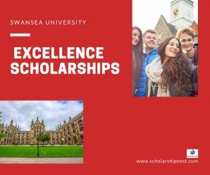 Swansea University International Excellence Scholarships at in UK, 2020