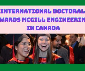 International Doctoral Awards McGill Engineering in Canada