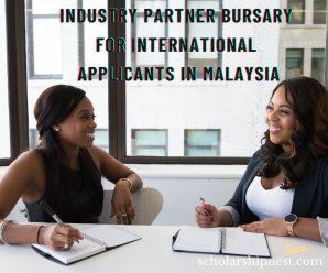 Industry Partner Bursary for International Applicants in Malaysia