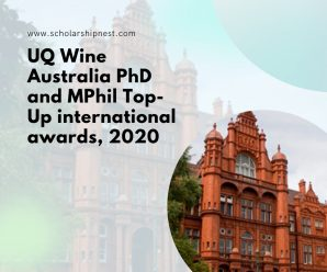 UQ Wine Australia PhD and MPhil Top-Up international awards, 2020