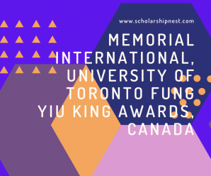 Memorial international, University of Toronto Fung Yiu King awards, Canada